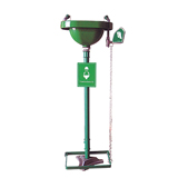 PEDESTAL MOUNTED EYE WASH